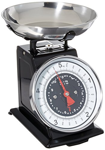 Starfrit 080211-003-0000 Retro Mechanical Kitchen Scale, Silver/Black