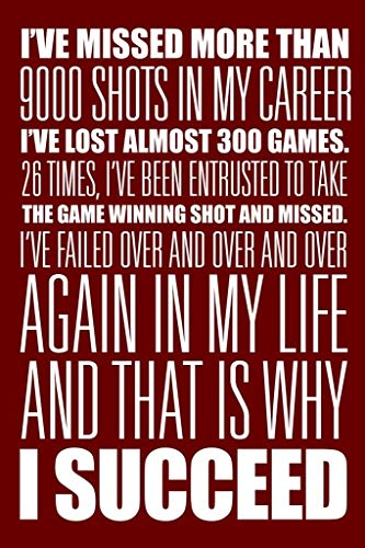I Succeed Red White Motivational Poster 24x36 inch -