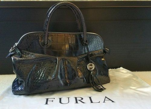 Furla Croc Embossed Bag - 1