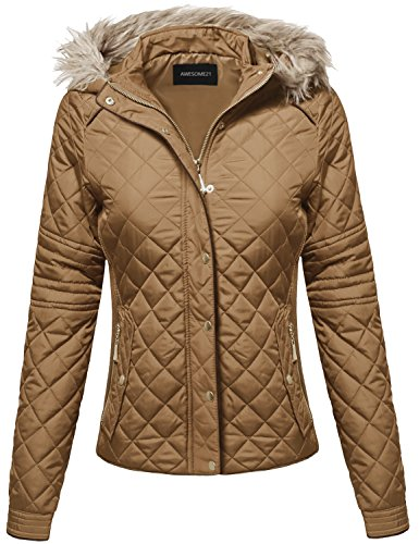 Quilted Detachable Hood Jacket - 9