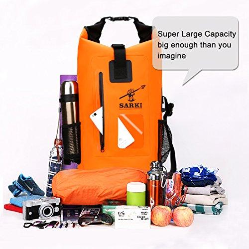 30L Waterproof Backpack Dry Float Bag with Zipper Pocket and Adjustable Shoulder  Straps - Large Sack eafe6d60d814e