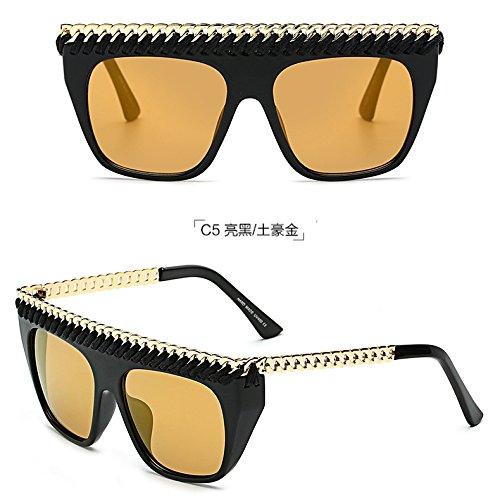 Frame De Gafas De Y Moda Gafas Sol Femenina Sol zhenghao C7 Personalidad Xue Big De c5 fgqYwn