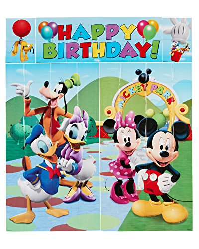 Amscan 5-Piece Set Mickey Scene Setter, Multicolored
