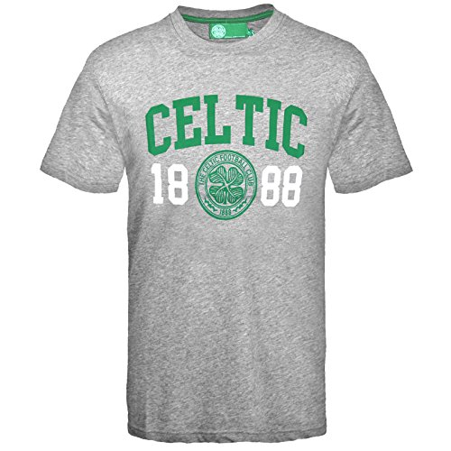 - Celtic FC Official Football Gift Mens Graphic T-Shirt Grey XL
