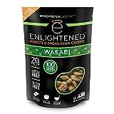 Enlightened Roasted Broad Bean Crisps Wasabi, 54 oz