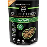 Enlightened Plant Protein Gluten Free Roasted Broad (Fava) Bean Snack, Wasabi, 4.5 oz. (Pack of 12)
