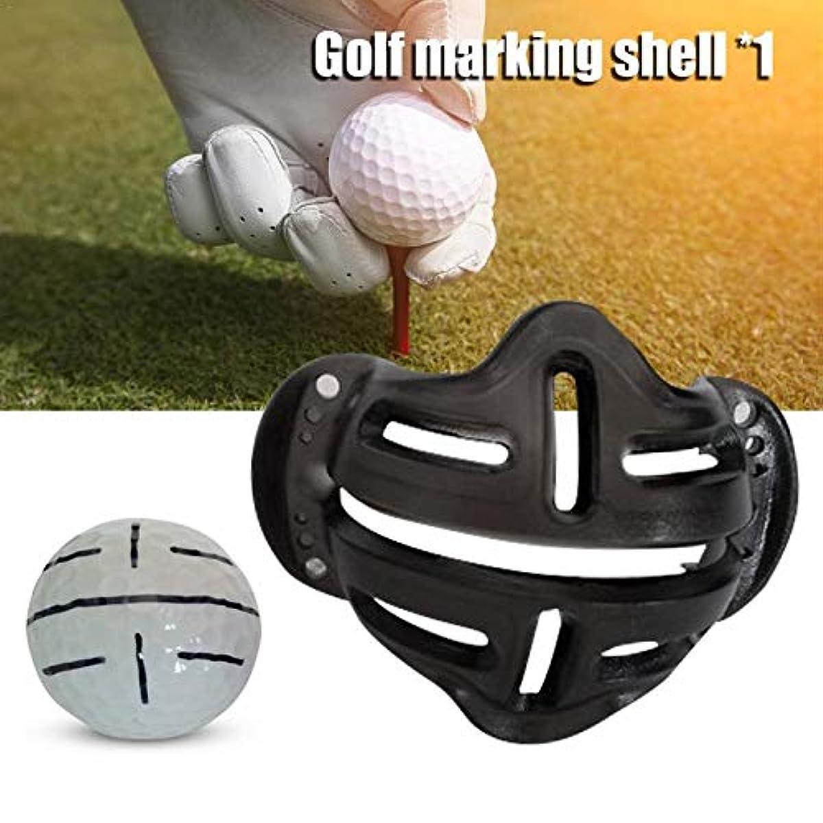[해외] 새로운 골프 볼의 합성피혁해 라인 마커 마크 템플릿은,템플릿의 리니어 패드 위치 정해 볼 마크 alignment가 클립 툴을 두는 그립니다