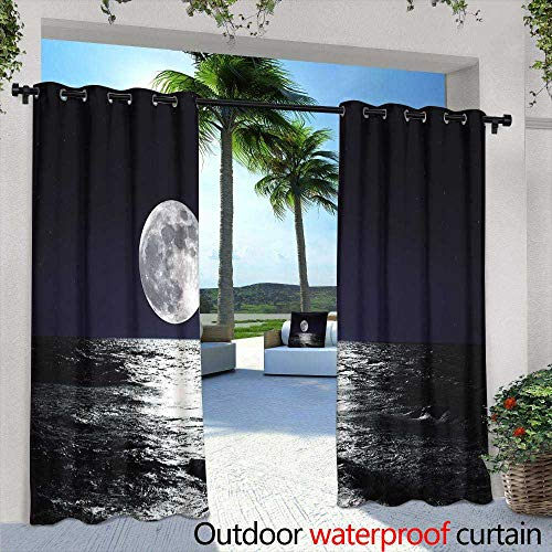 Patio Curtains,Modern NYC Interior Architecture Night Scene Concept,W96 x L96 Thermal Insulated Water Repellent Drape for Balcony (Hotel Balcony With Nyc)