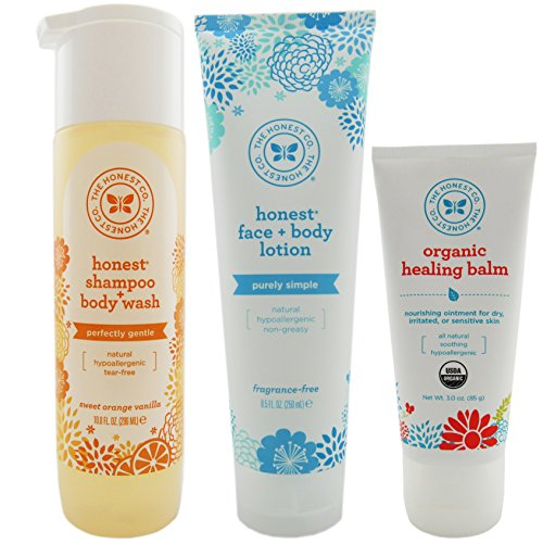 Honest Co Shampoo, Lotion, and Healing Balm