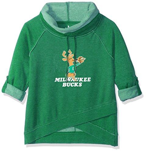 - Touch by Alyssa Milano NBA Milwaukee Bucks Wildcard Top, Medium, Green