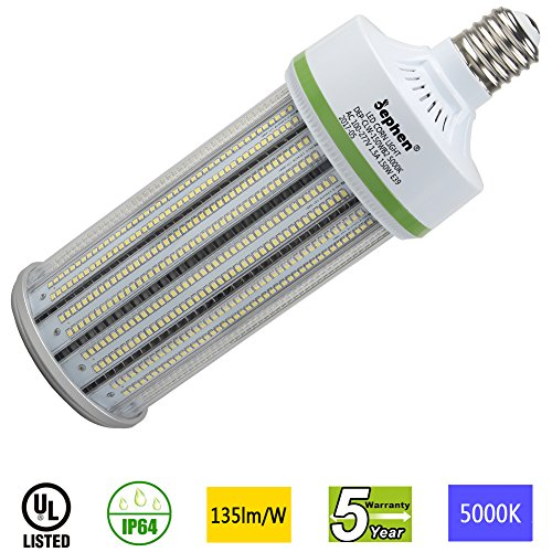 Dephen 150W LED Corn Light, Large Mogul E39 Base Led Corn Bulb, 5000K, 20250 Lumens, 1000W Incandescent Equivalent, Replacement for Metal Halide Bulb, HID, HPS by dephen