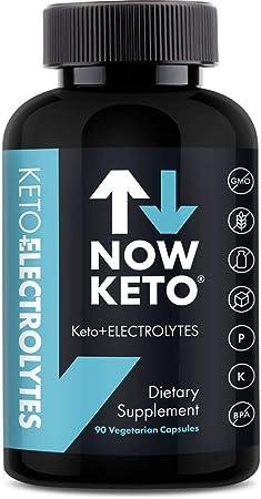 Keto Plus Electrolytes Replacement Tablets for Fast Hydration | Magnesium, Potassium, Sodium, Calcium, Vitamin D, Vitamin B | Keto Diet Friendly | 90 Vegetarian Capsules