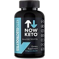 NOW KETO Keto Electrolytes Replacement Tablets For Fast Hydration Magnesium, Potassium, Sodium, Calcium, Vitamin D, Vitamin B Keto Diet Friendly 90 Vegetarian Capsules