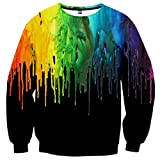 Neemanndy Unisex 3D Print Sweatshirt Men's Long Sleeve Crew-Neck Pullover Sweatshirt Casual Shirt Tops for Women