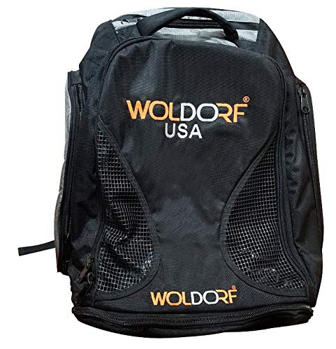 Woldorf USA Backpack Black Orange Convertible Duffel Vented