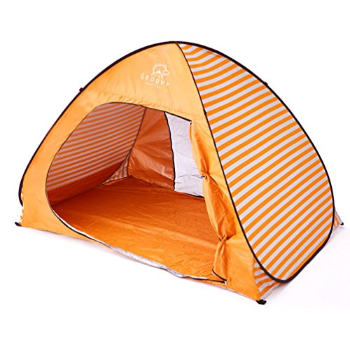 五植木立ち向かうワンタッチテント フルクローズ ポップアップテント サンシェード タープ ビーチ かわいい おしゃれ UV 大人 2人用 遮光 日よけ コンパクト 190cm×125cm×125cm カモフラ 迷彩 ボーダー柄