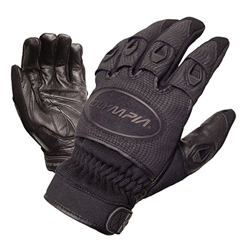 Olympia 750 Mens Ventor Black Leather Sport Series Gloves 3X-Large