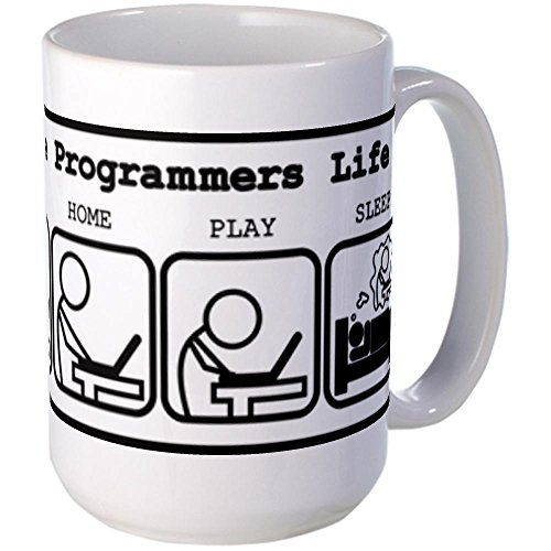 CafePress - Unique The programmers life Mug - Coffee Mug, Large 15 oz. White Coffee Cup
