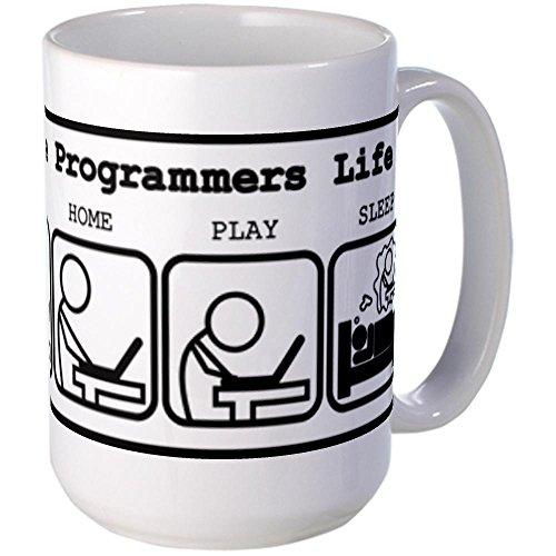 CafePress - Unique The programmers life Mug - Coffee Mug, Large 15 oz. White Coffee Cup