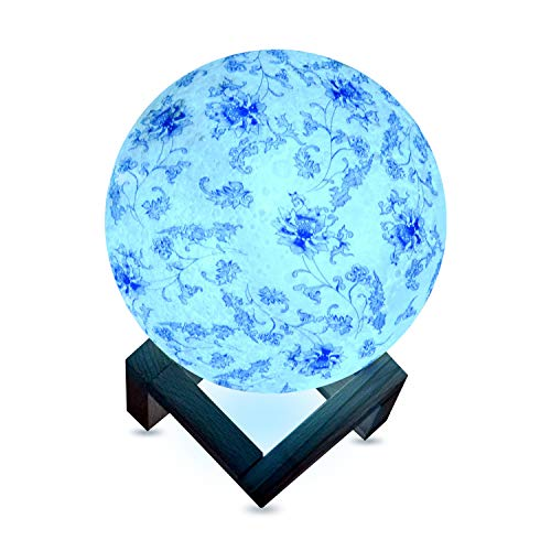 3D Colors Print LED Moon Lamp, 5.9