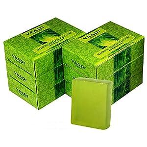 Vaadi Herbals Alluring Neem Tulsi Soap with Vitamin E and Tea Tree Oil, 75gms x 6 124