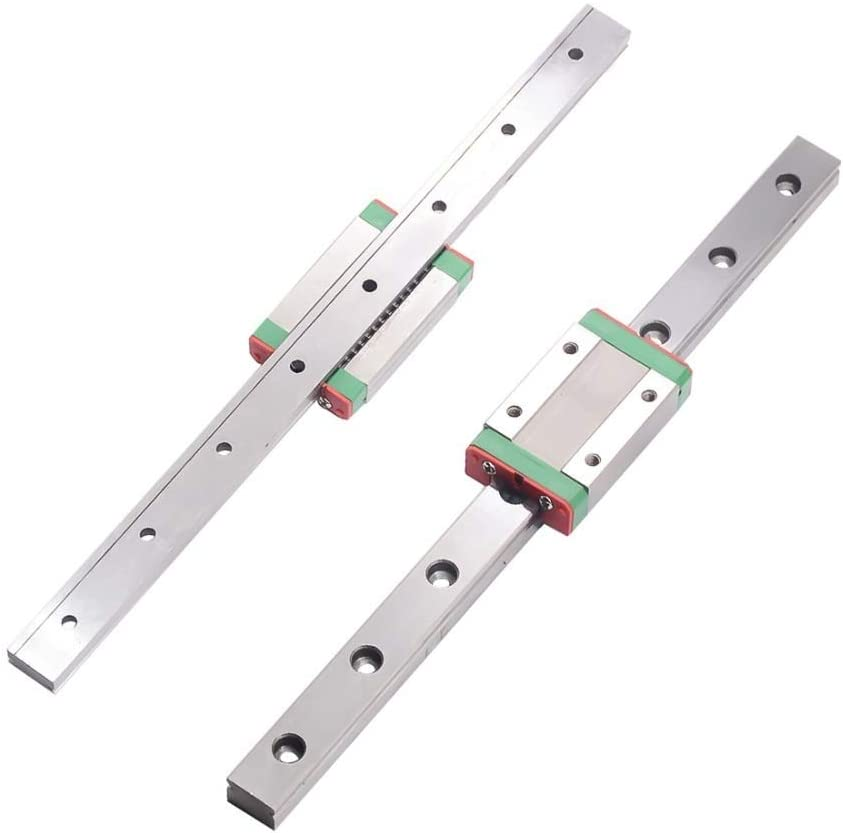 Yinxinhui Parts MGN7 MGN12 MGN15 MGN9 300 350 400 450 500 600 800mm miniature linear slide 1pcMGN9 linear guide color : MGN12 H, Guide Length : Only 1pc Block 1pcMGN9H carriage
