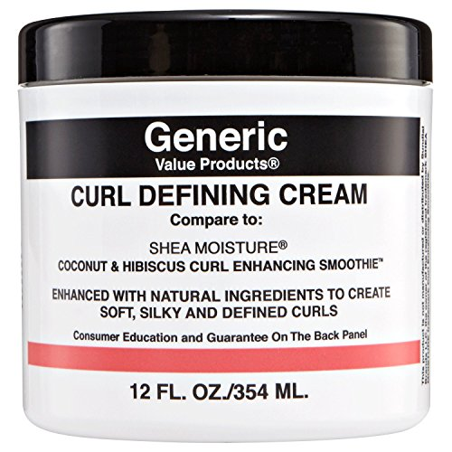 Generic Value Products GVP Curl Defining Cream Compare to Shea Moisture Coconut & Hibiscus Curl Enhancing Smoothie