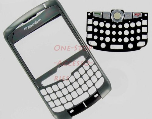 --New RIM BlackBerry Curve 8300 8310 8320 Original OEM Faceplate with Lens, Trackball & Keyboard Titanium Color Front Cover Face Plate Case Part AT&T T-Mobile GSM Phones Plus Tool Kit T5 Screw Driver & Opener