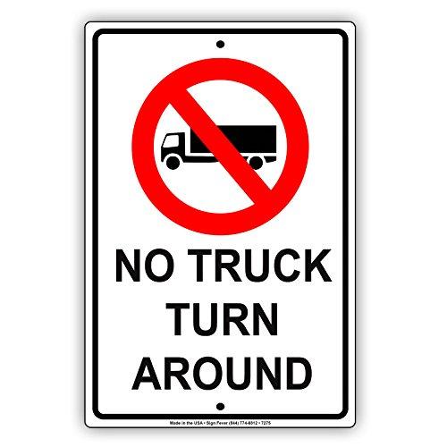 No Truck Turn Around Aluminum Metal Sign Advertisement Display Board Business Signboard 12