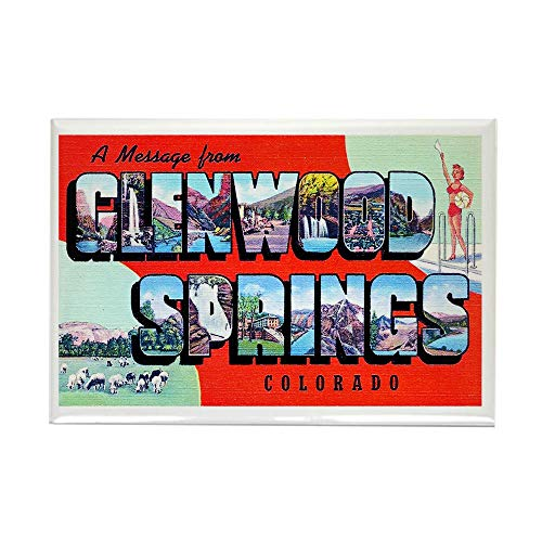 CafePress Glenwood Springs Colorado Greetings Rectangle Magn Rectangle Magnet, 2