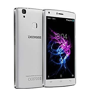 "DOOGEE X5 Max Pro 4G Smartphone 5.0"" HD IPS Display Android 6.0 MTK6737 Quad Core 1.3GHz 2GB RAM+16GB ROM 5.0MP+8.0MP Camera 4000mAh Fingerprint Cellphone (White)"