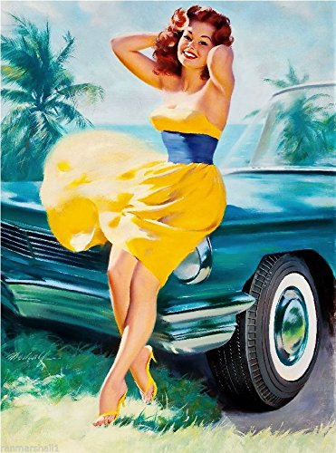 pin up yellow dress
