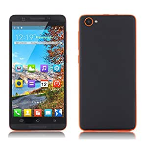Quarice X800 3G Smartphone 5.0 Inch Screen 1.3GHz Android 5.1 Quad Core 4gb ROM 512mb RAM Mobile Phone Support Dual SIM Dual Standby TF FM Radio WIFI Bluetooth (Black Orange)