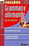 Bordas langues : Grammaire allemande par les exercices, collège