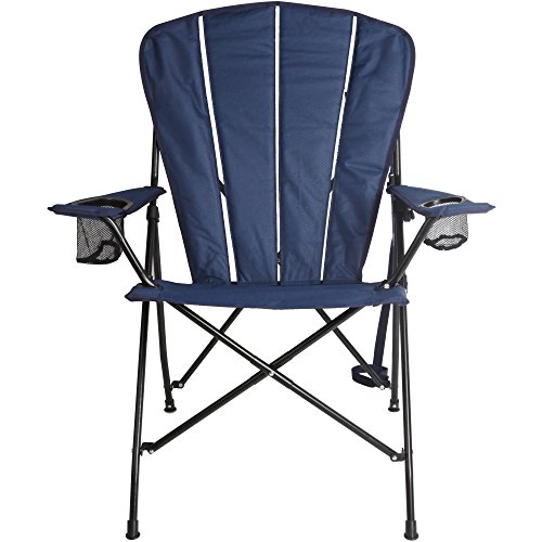 Ozark Trail Corrosion-Resistant Steel Frame Deluxe Adirondack Chair Ripstop-Style With Mesh Cup Holders, Navy by Ozark Trail