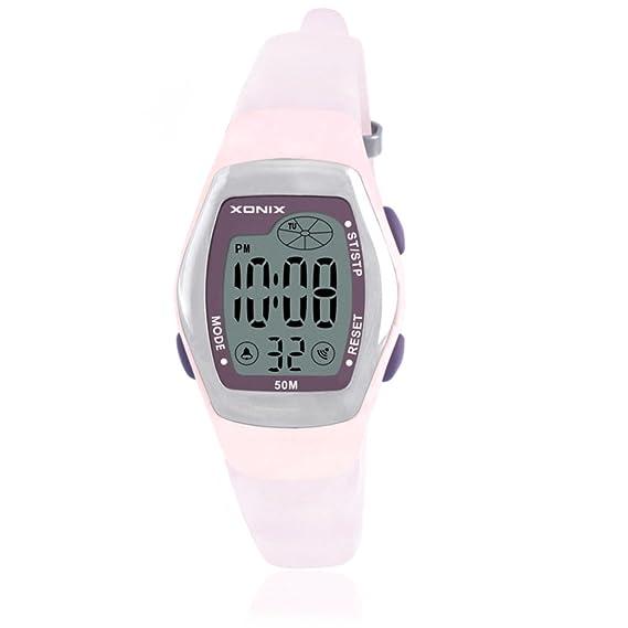 retroLEDReloj digital multifunción/Reloj digital de baño impermeable niñas-A: Amazon.es: Relojes