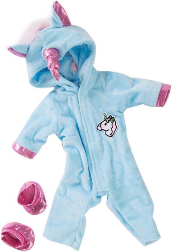 Muñecas American Girl Unicornio Mono Establece Creativo Del Caballo Del Patrón Ropa De La Muñeca Con Los Zapatos De Las Muñecas Del Bebé Kit Regalo De La Decoración De Navidad Ropa 1set Azul