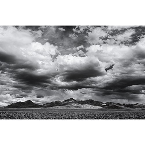 May Showers - Monitor Mountain Range Central Nevada Fine Art Landscape Photography Print Black and (Black Monochrome Monitor)