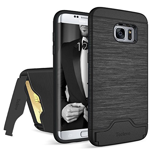 Slim Rugged Shockproof TPU Case For Samsung Galaxy S7 Edge (Black) - 1