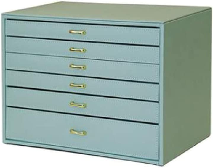 ZHENAI Caja Joyero Extra Grande, Estuche De 6 Capas, Organizador En Piel Sintética, con Cajones, Verde
