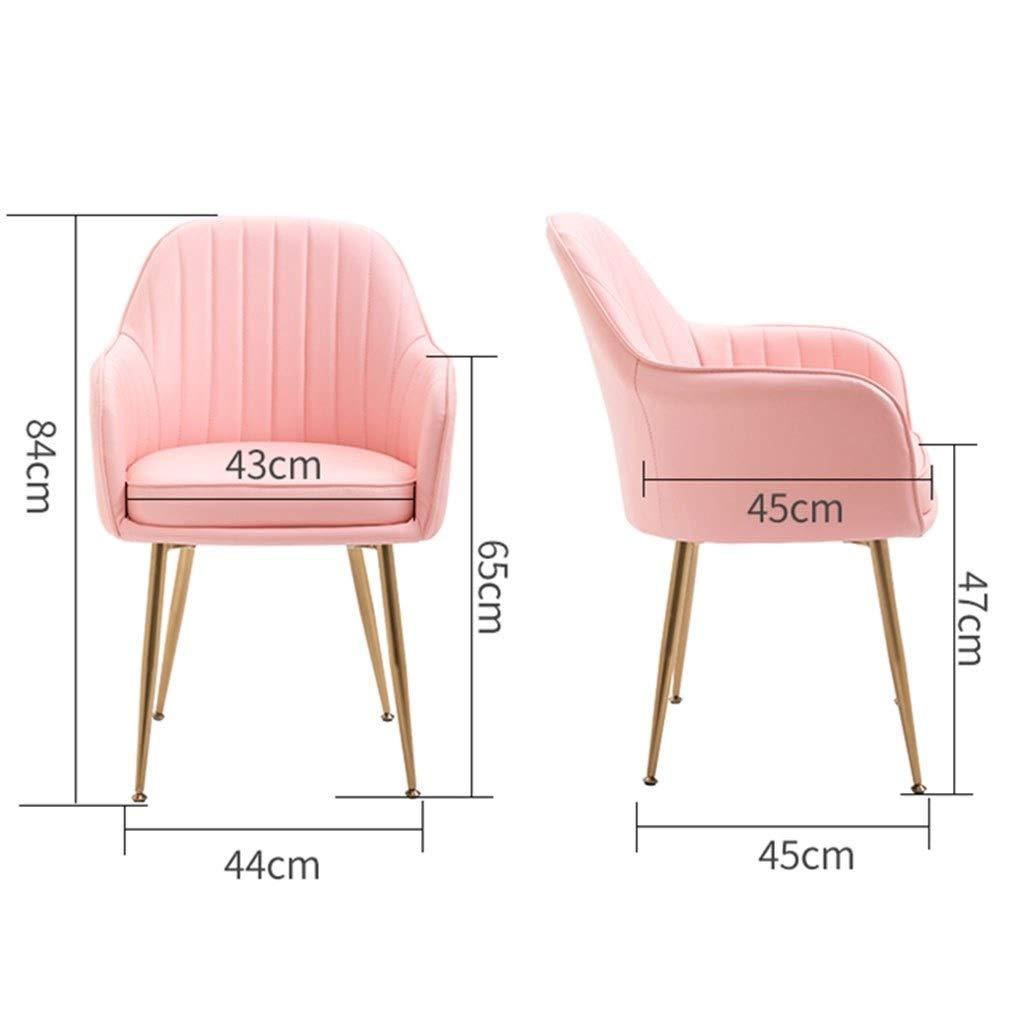 HEJINXL matrumsstol köksbord stol fritid vardagsrum hörnstol fåtöljer med ryggstöd läder mottagningsstol förgylld bendräkt (färg: Z) G