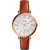 Fossil Jacqueline Three-Hand Date Leathe...