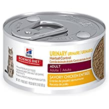 Hill's Science Diet Adult Urinary & Hairball Control Savory Chicken Entrée Canned Cat Food, 2.9 oz, 12 Cans (Pack of 2)