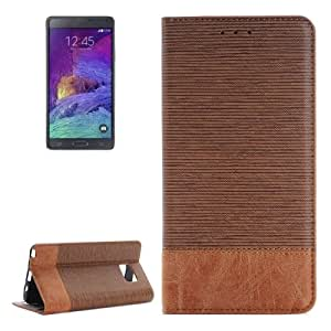 Cross Texture Horizontal Leather Case Funda Flip Cover con Bolsillos Interiores & Wallet & Holder Para Samsung Galaxy Note, Small 5 Quantity Recommended Before Samsung Galaxy Note 5 Launching (Brown)