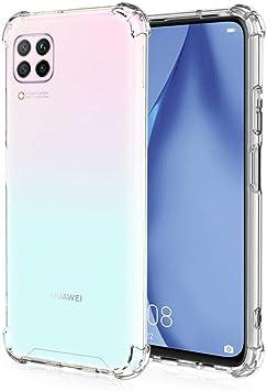 All Do Funda para Huawei P40 Lite, [Refuerzo de Cuatro Esquinas] Estuche de Silicona TPU Ultradelgado Transparente Absorción de Golpes Antiarañazos para Estuche Huawei P40 Lite: Amazon.es: Electrónica