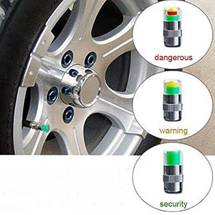 HMOCNV Juego de 4 tapas de válvula de control de presión de neumáticos para coche con