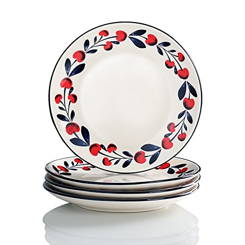 Cherries Series Living Ware 8 inch Dinner Plates Oven Safe,