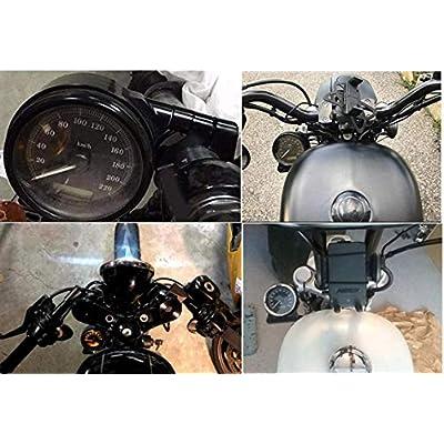 PBYMT Black Side Mount Speedometer Relocation Adjustment Odometer Mounting Bracket Compatible for Harley Davidson Sportster XL 883 1200 1995-2016: Automotive