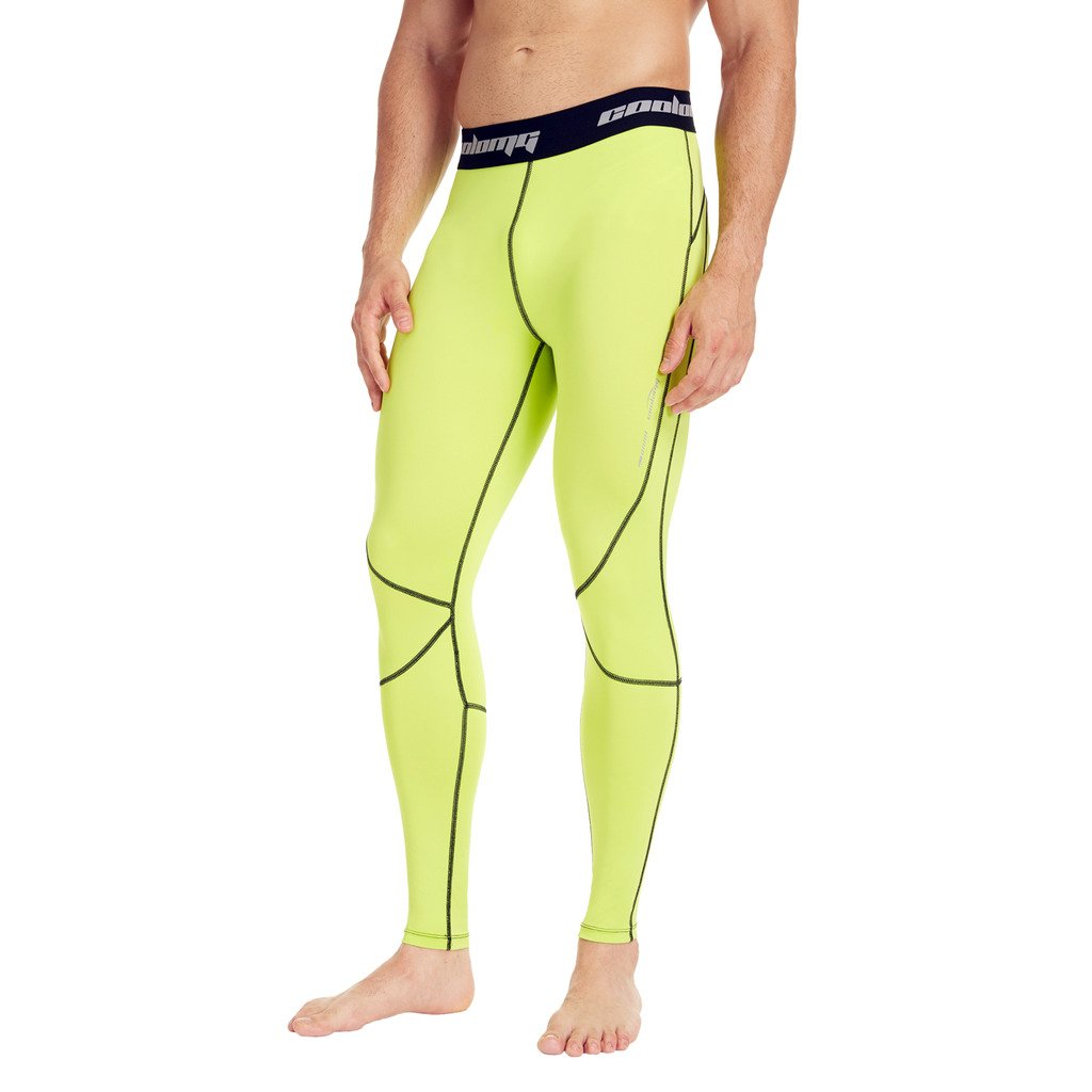 COOLOMG Men's Compression Pants Running Tights Baselayer Cool Dry Long Pants Sports Leggings