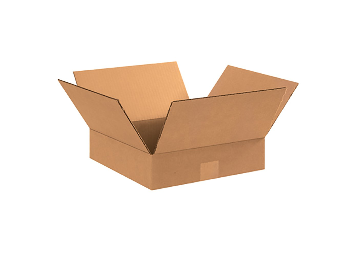 RetailSource B121202CB500 Corrugated Box, 2'' Height, 12'' Width, 12'' Length, Brown (Pack of 500)